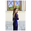 Ingrid, blaues Abendkleid, Rückenansicht