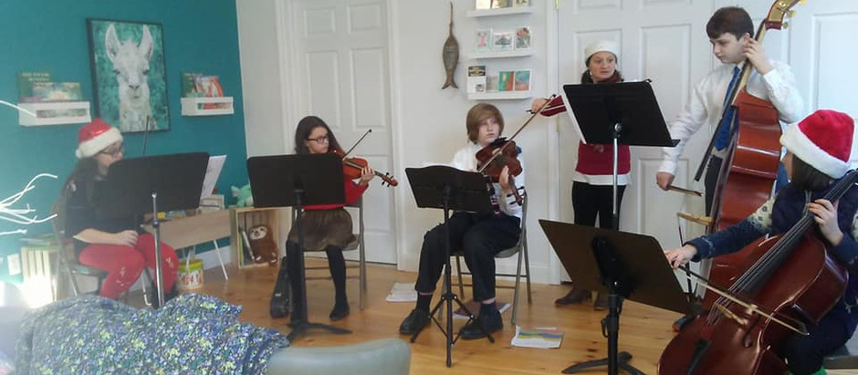 CSP Students perform at InkFish Books in Warren