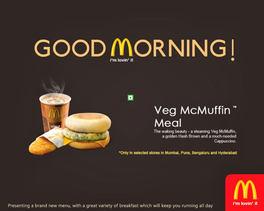 Social media ad for McD