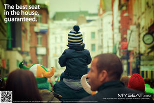 Campaign for Myseat which books tickets for sporting events