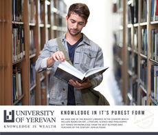 Ad created for the University of Yerevan