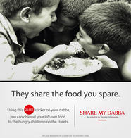Campaign created for not for profit initiative Share by dabba