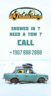 Social Media ad created for a Towing Company.
