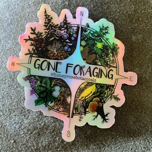 Gone Foraging Sticker