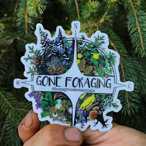 Gone Foraging Sticker