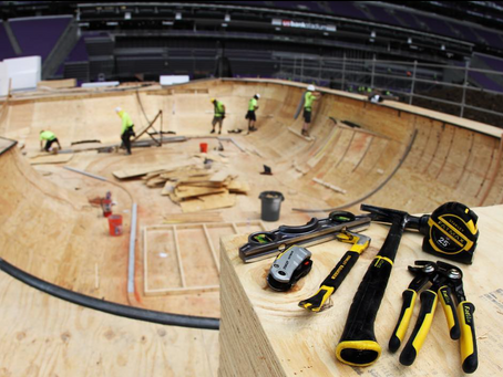 CALIFORNIA RAMPWORKS ON THE X-GAMES BUILD