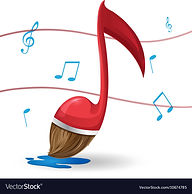 red-note-music-brush-paint-vector-106747
