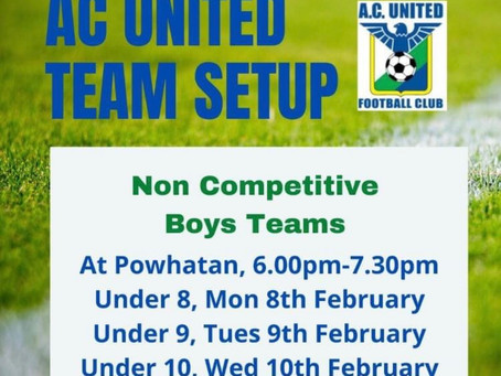Team Set Up Days for 8s to 11s
