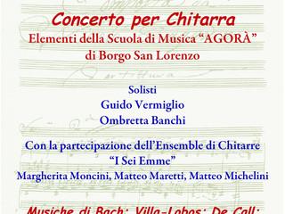 La chitarra protagonista in concerto a S. Stefano a Grezzano.                        Sabato 20 maggi