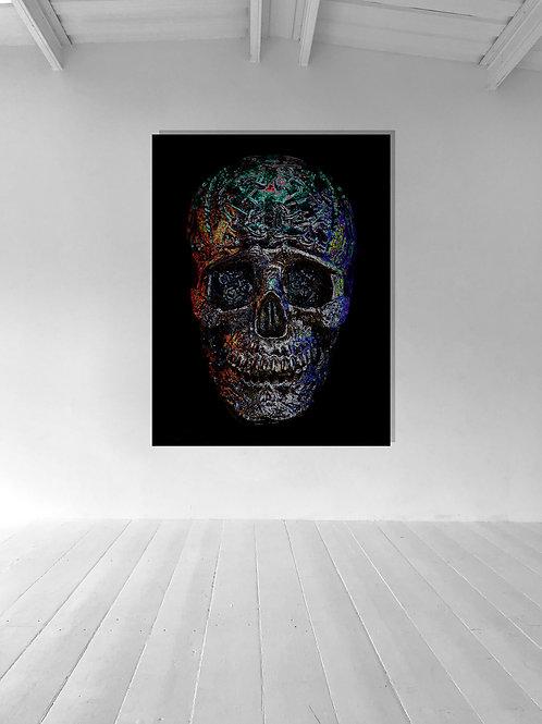 Neon Skull Aluminium 5ft x3.3ft
