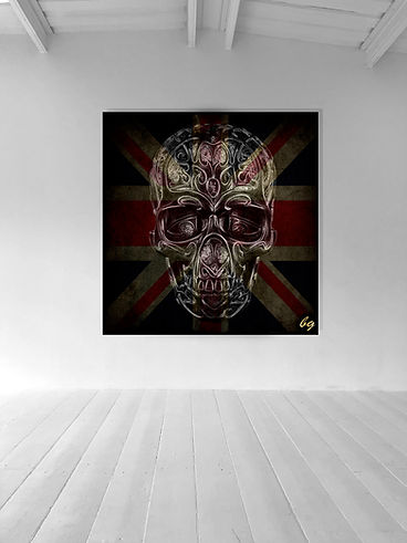Naked skull collection wall art