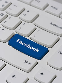 Computer keyboard button with facebook t