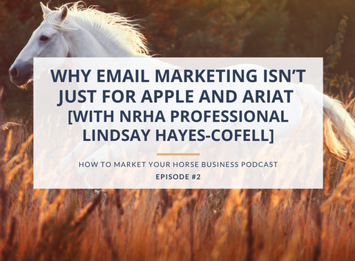 Why Email Marketing Isn't Just For Apple and Ariat [with NRHA Professional Lindsay Hayes-Cofell]
