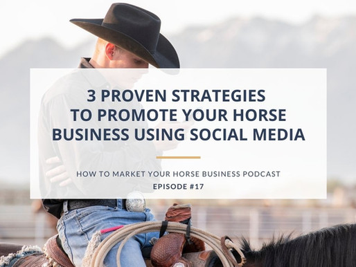 3 Proven Strategies to Promote Your Horse Business Using Social Media