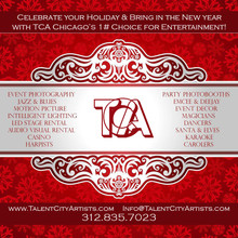 Book Your Holiday Entertainment Today 312.835.7023