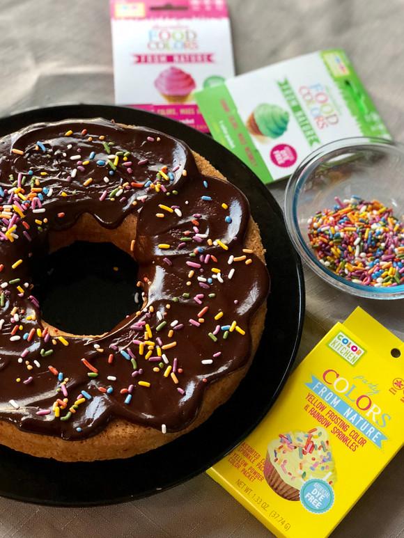 Giant Vegan Donut Cake Recipe (EASY!)