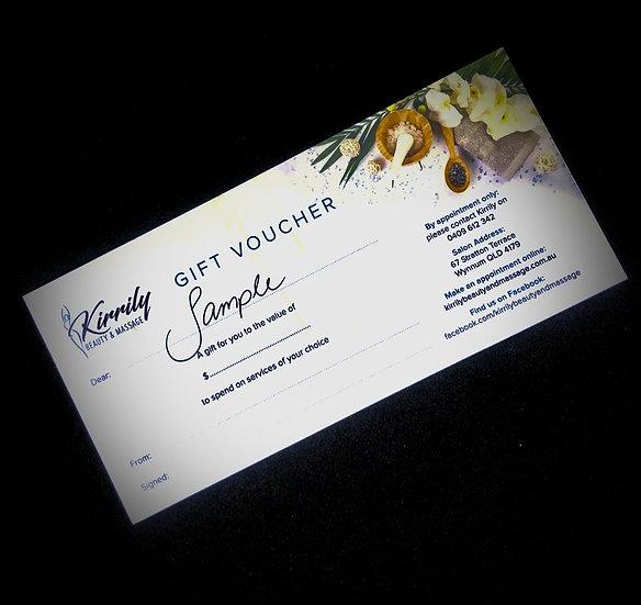 Kirrily Beauty & Massage Gift Voucher