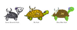 Cactus Turtle in Different Styles
