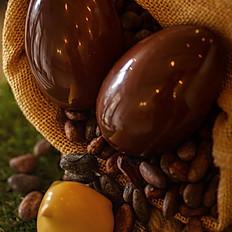 Oeuf lisse 17cm - chocolat noir