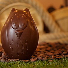 Hibou 15cm - chocolat noir