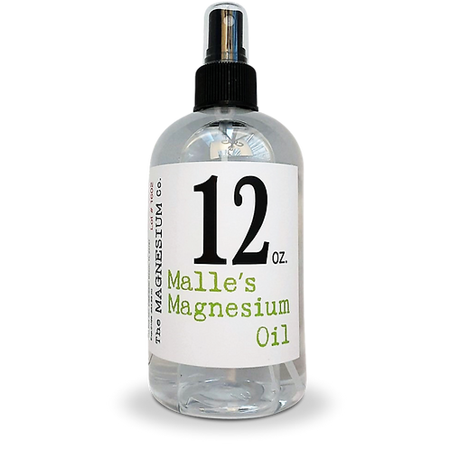 Malle's Magnesium Oil 12 oz spray bottle
