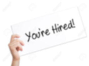 75729302-you-re-hired-sign-on-white-pape