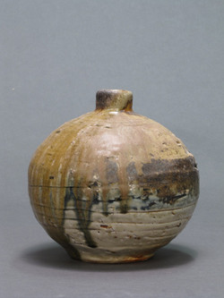 Vase,  8 in. dia. x 8 in. h., Wood fired stoneware-web.jpg