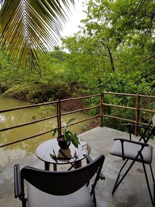 Bamboo Cottage Balcony