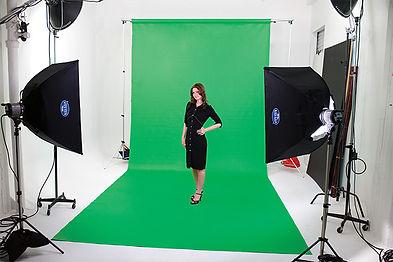 Studio mobile de tournage vidéo sur fond vert