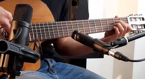 הקלטות באולפן הביתי גיטרה