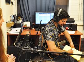 הקלטות במהלך שיעורי הגיטרה