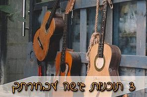 תוכניות גישה לקורס הדיגיטלי אונליין בגיטרה