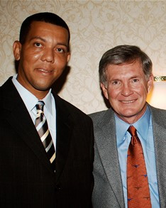 Charles McClelland and Mack Brown-2010.j