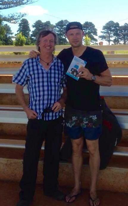 Gaz Jackson with Andy Flintoff