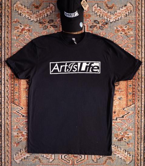 Art Is Life Black Tee
