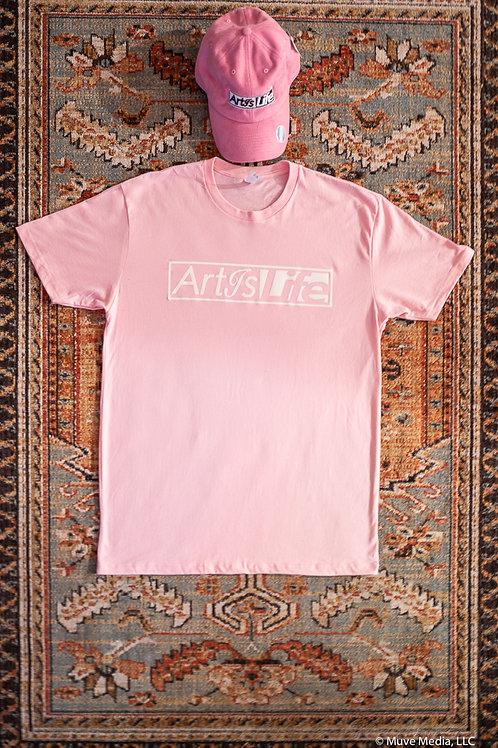 Pink & White, Soft Cotton, ArtIsLife Tee