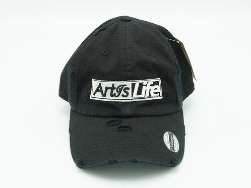 Onyx Black Vintage Dad Hat