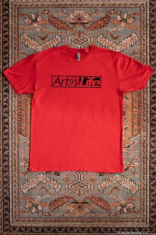 Red & Black ArtIsLife Flagship soft cottonT