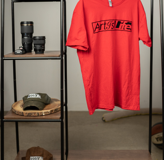 Art Is Life Red Tee