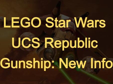 LEGO Star Wars™ UCS Republic Gunship: Announcement Coming This Week