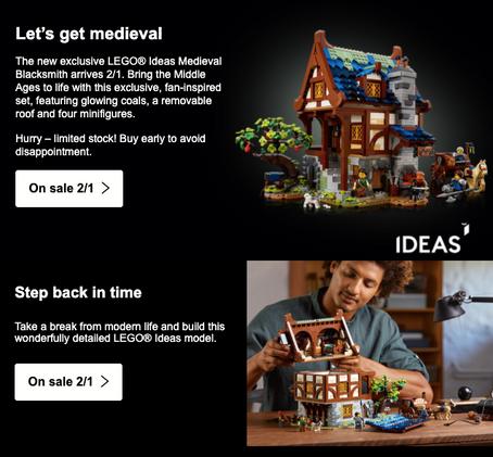 LEGO IDEAS® MEDIEVAL BLACKSMITH Available on Shop@Home