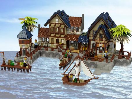 LEGO Ideas: Medeival Harbor Achieves 10k Supporters