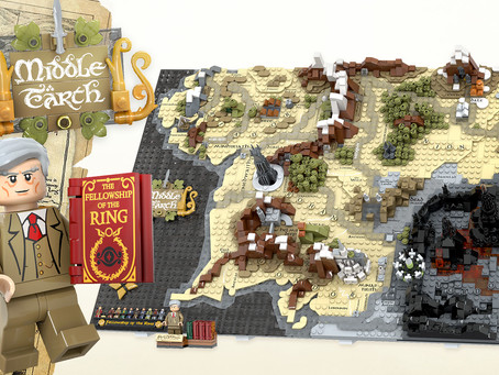 LEGO Ideas: A Map of Middle Earth Achieves 10k Supporters