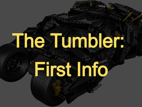 LEGO Batman The Tumbler: First Info