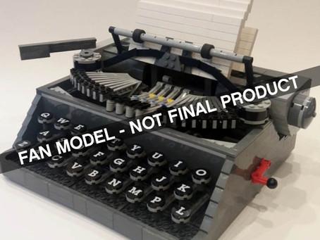 LEGO Ideas Typewriter: First Info