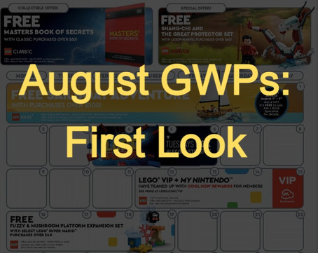 LEGO Ideas Sailboat Adventure and Other August GWPs