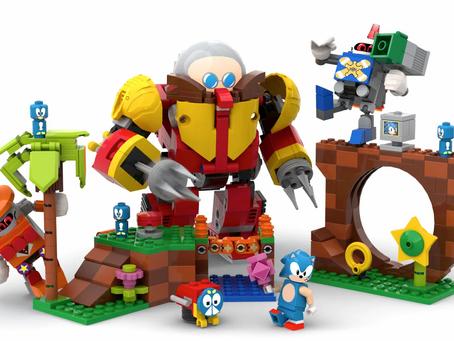 LEGO IDEAS®ANNOUNCES A SUPERSONIC FAN DESIGN CREATION: SONIC MANIA™ GREEN HILL ZONE