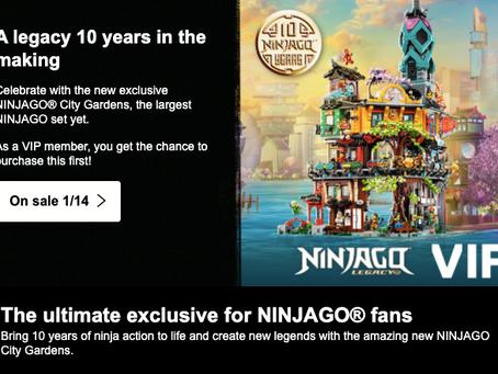 LEGO Ninjago City Gardens VIP Presale Active Now