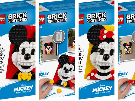 LEGO Brick Sketches Mickey & Minnie Mouse Available in March