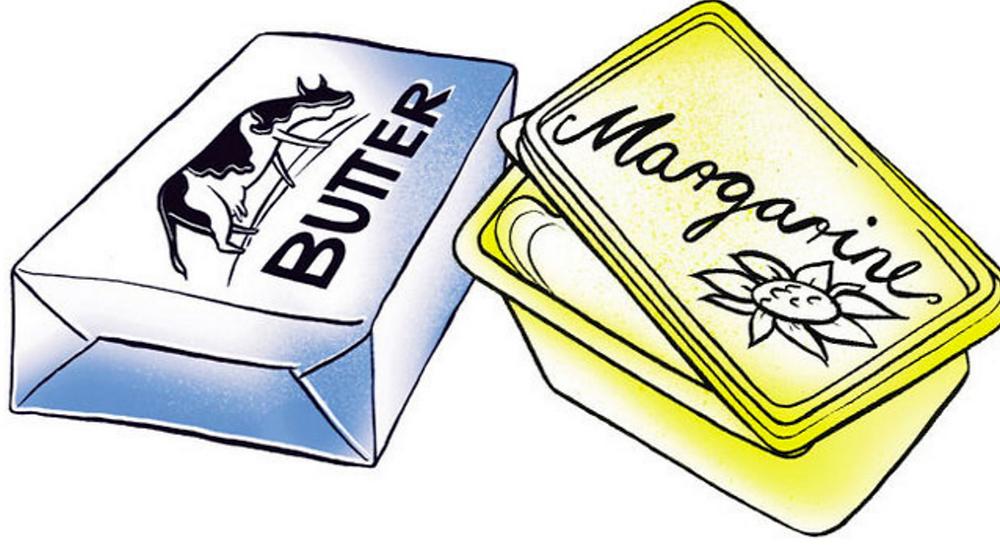 STOP met margarine